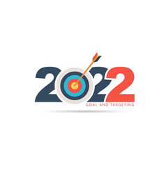 Logo 2022 new year with creative target market vector