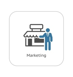 Marketing Icon Flat Design vector image