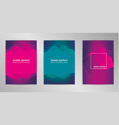 Modern cover design background set a4 format vector