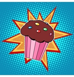 Muffin cake sweet food vector