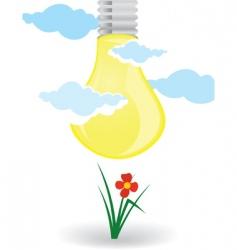 natural lamp vector image