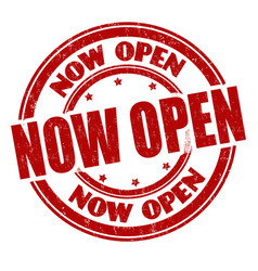 Now open sign or stamp vector