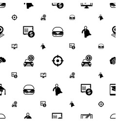 Pictograph icons pattern seamless included vector