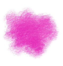 Pink crayon scribble texture stain isolated vector