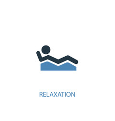 Relaxation concept 2 colored icon simple blue vector