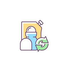 Roll on deodorant refill rgb color icon vector