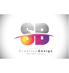 Sb s b letter logo design with creative lines and vector