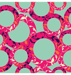 Seamless circle pattern geometric background in vector image