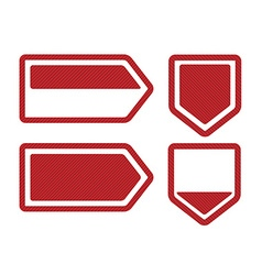 Set of Four Red Bookmarks vector