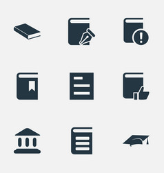 set simple reading icons vector image