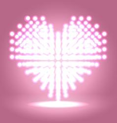 Shining heart shape vector