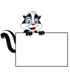 skunk with sign vector image