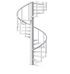 Spiral staircase realistic 3d object on a white vector