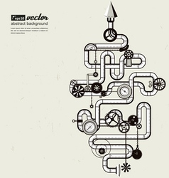 Steam punk - pipes vector