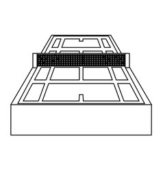 tennis court field vector image
