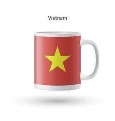 Vietnam flag souvenir mug on white background vector