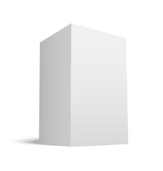 white realistic box with grey shades vector image