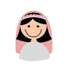 wife character isolated icon vector image