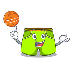 With basketball character style short pant for vector
