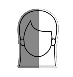 Woman face icon vector