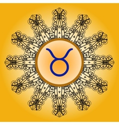 zodiac sign The Bull taurus vector image