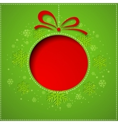 Abstract Christmas balls cutted from paper on vector image