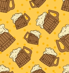 Beer mug pattern vector image