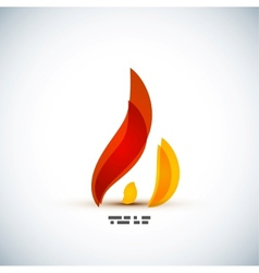 Bright fire concept design vector image