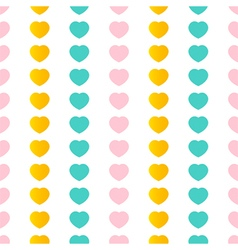 Colorful hearts seamless pattern background vector image vector image