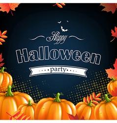 Orange Autumn Pumpkins Frame vector image vector image