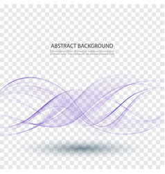abstract smooth color wave curve flow blue vector image vector image