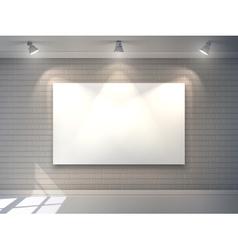 Gallery Interior Poster vector image vector image