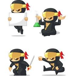 Ninja Customizable Mascot 7 vector image vector image