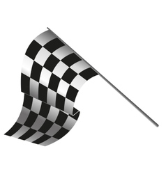 checkered flag racing vector image