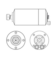 electric motor outline vector image