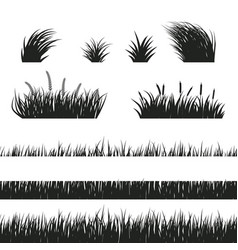grass seamless black and white vector image vector image