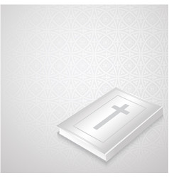 holly bible on gothic background vector image
