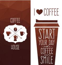 I love coffee vector image