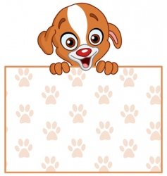 puppy with sign vector image