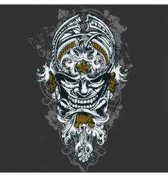wicked mask illustration vector image