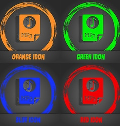 Audio MP3 file icon sign Fashionable modern style vector image