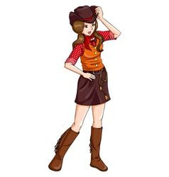 Cowgirl vector image