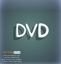 dvd icon symbol on the blue-green abstract vector image