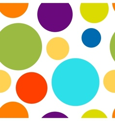 Funny colorful dots seamless pattern for your vector image vector image