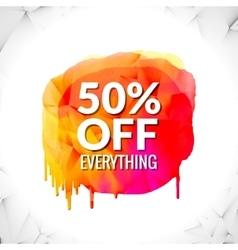 Sale word on watercolor spot splash vector image
