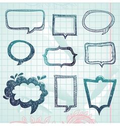 speech bubbles - hand-drawn vector image
