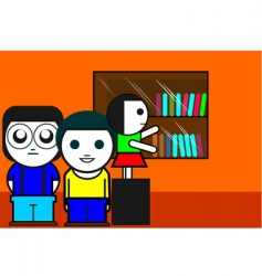 students vector image vector image