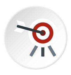 Target with arrow icon flat style vector image
