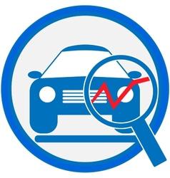 Automotive diagnostic repair icon vector image