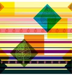 Autumn transparent leaves geometric pattern vector image